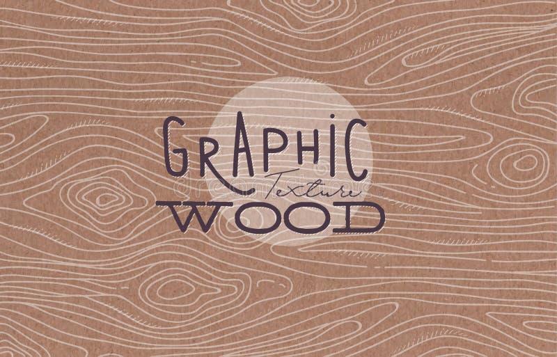 Graficzny drewniany tekstury brąz ilustracja wektor