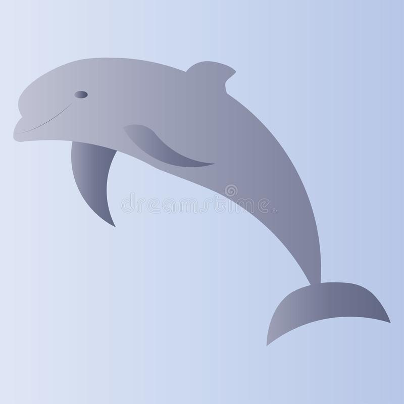 Graficzny geometryczny delfin ilustracja wektor