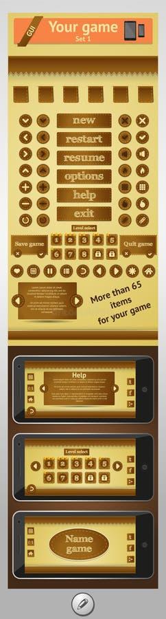 Graficzny interfejs użytkownika dla gier royalty ilustracja