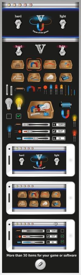 Graficzny interfejs użytkownika dla gier i oprogramowania royalty ilustracja