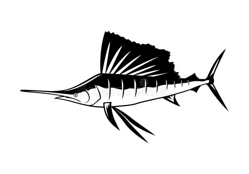 Graficzny marlin, wektor royalty ilustracja