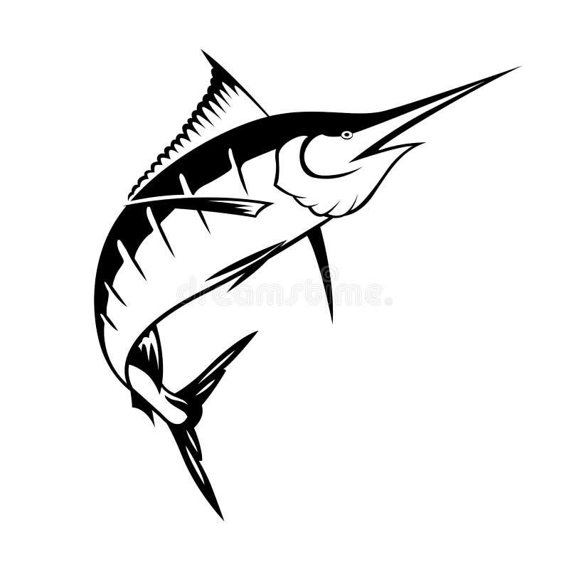 Graficzny marlin, wektor ilustracji