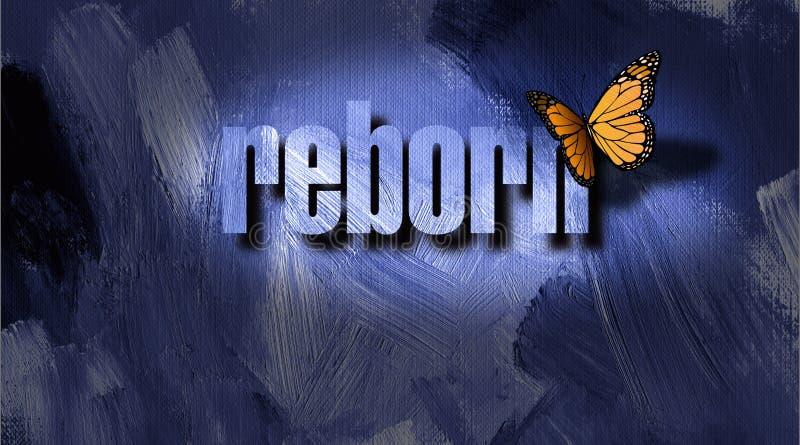 Graficzny Odrodzony motyl i textured tło royalty ilustracja