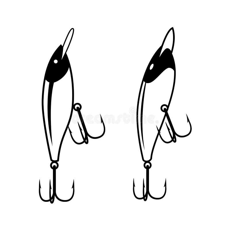 Graficzny połowu nęcenie, wektor royalty ilustracja