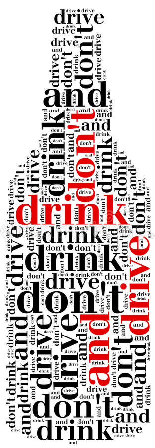 Graficzny projekt odnosić sie jechać po alkoholu royalty ilustracja