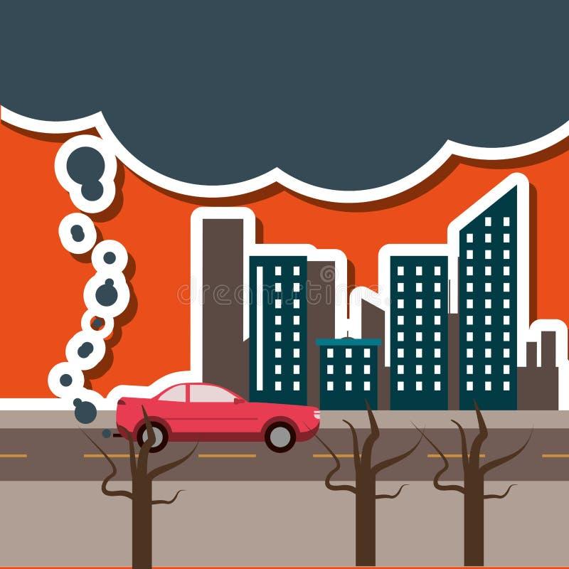 Graficzny projekt zanieczyszczenie royalty ilustracja