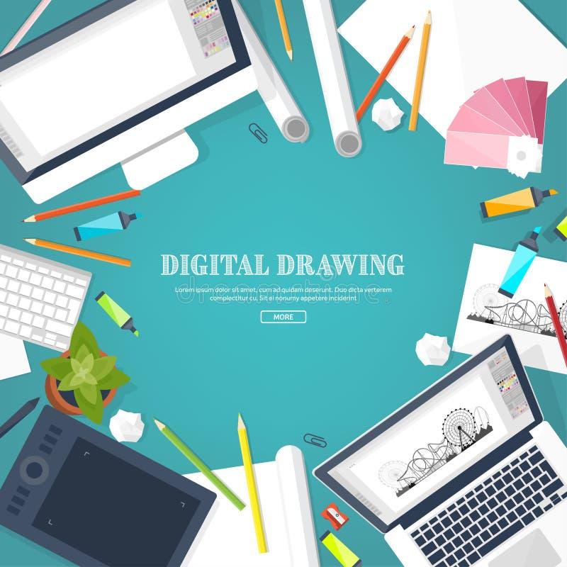 Graficzny sieć projekt ilustracji