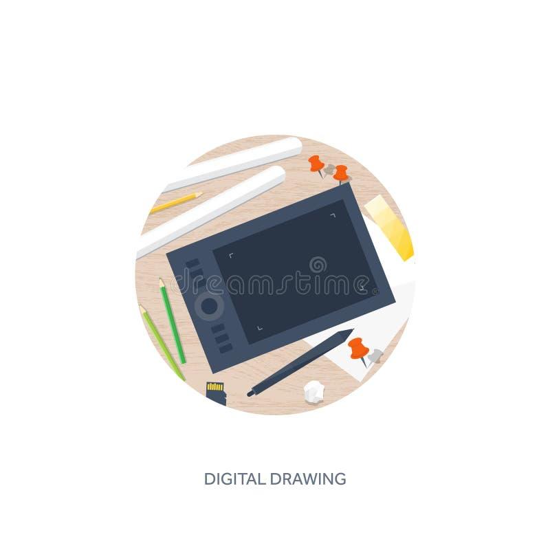 Graficzny sieć projekt TARGET64_1_ i target65_1_ rozwojowy Ilustracja kreśli i freelance Interfejs użytkownika UI Komputer ilustracji