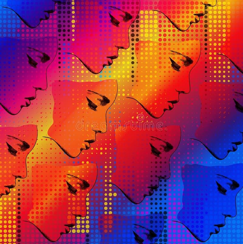 graficzny twarz druk ilustracji