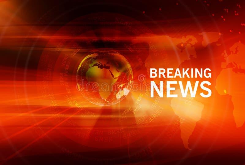 Graficzny wiadomości dnia tło z Ziemską kulą ziemską w centrum ilustracja wektor