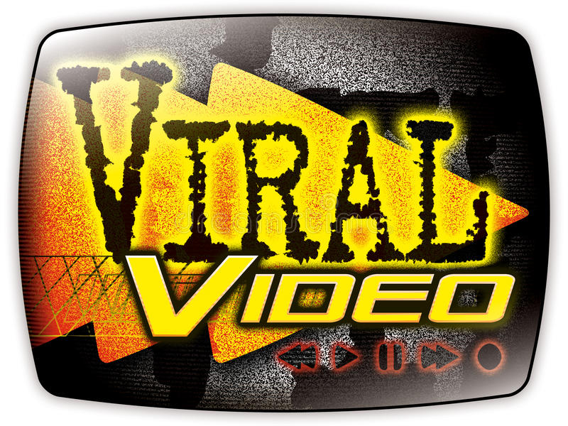 graficzny wideo wirusowy ilustracja wektor