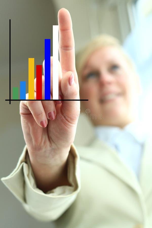 Grafiek 1 stock foto