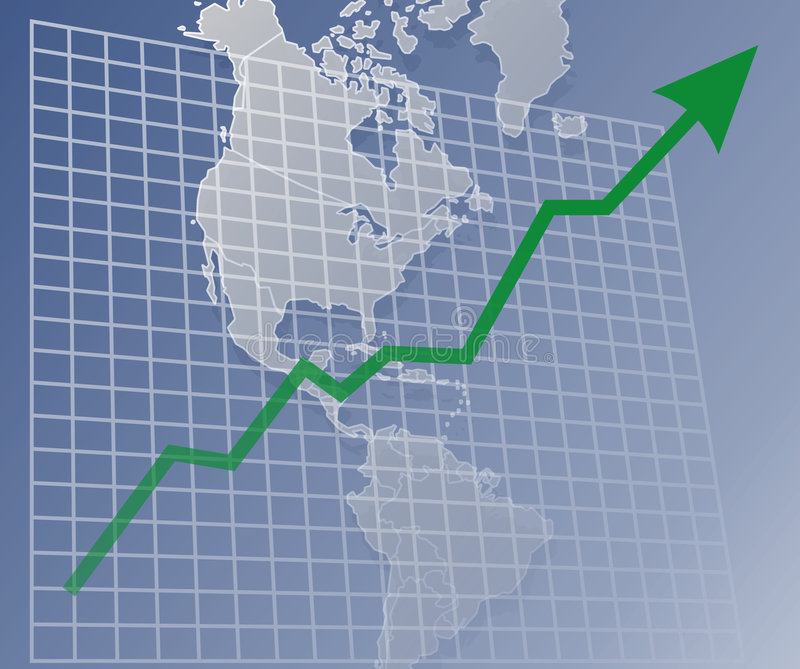 Grafiek Amerika omhoog vector illustratie