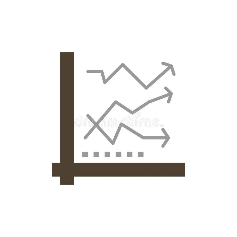 Grafiek, Analitische Analyse, Analytics, Grafiek, Pictogram van de Gegevens het Vlakke Kleur Het vectormalplaatje van de pictogra vector illustratie