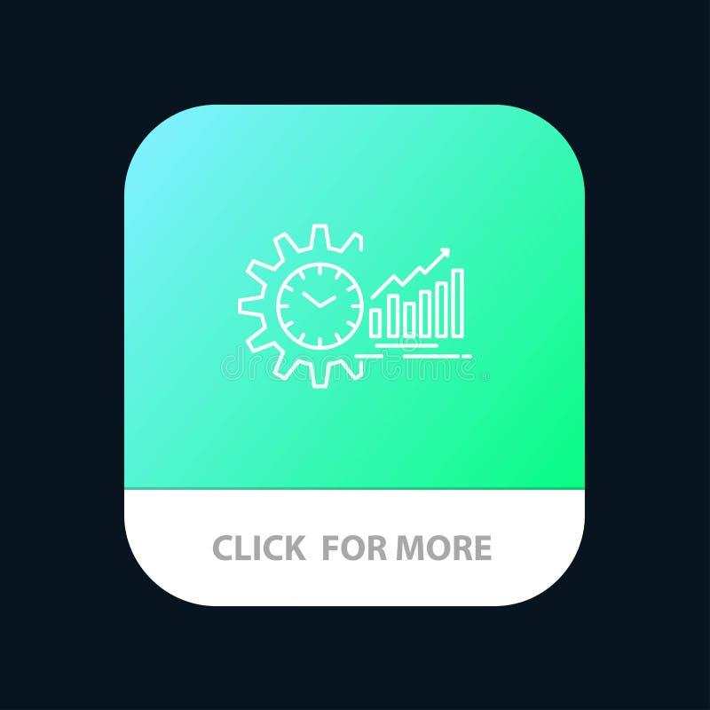 Grafiek, Analytics, Grafieken, Markt, Programma, Tijd, de Knoop van de Tendensenmobiele toepassing Android en IOS Lijnversie vector illustratie