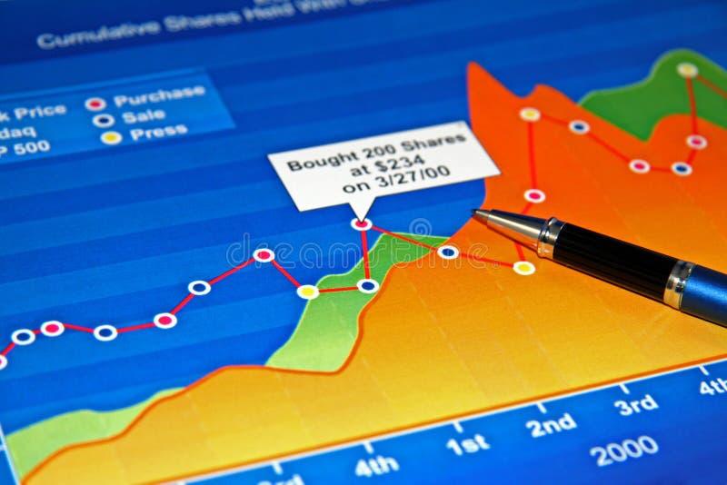 Grafiek de bedrijfs van de Kleur stock afbeelding