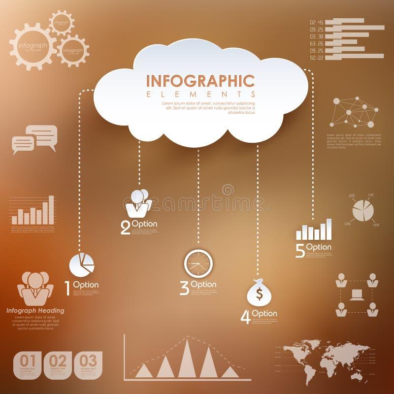Grafiek de bedrijfs van Infographics stock illustratie
