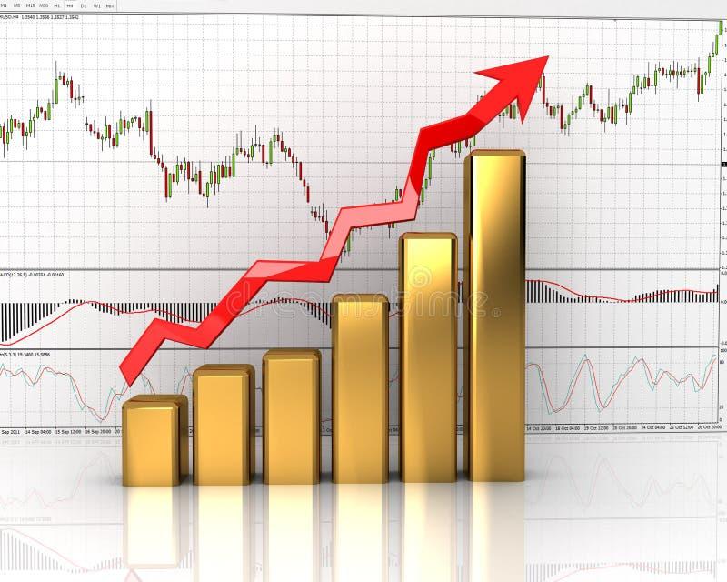 Grafiek, diagram stock illustratie