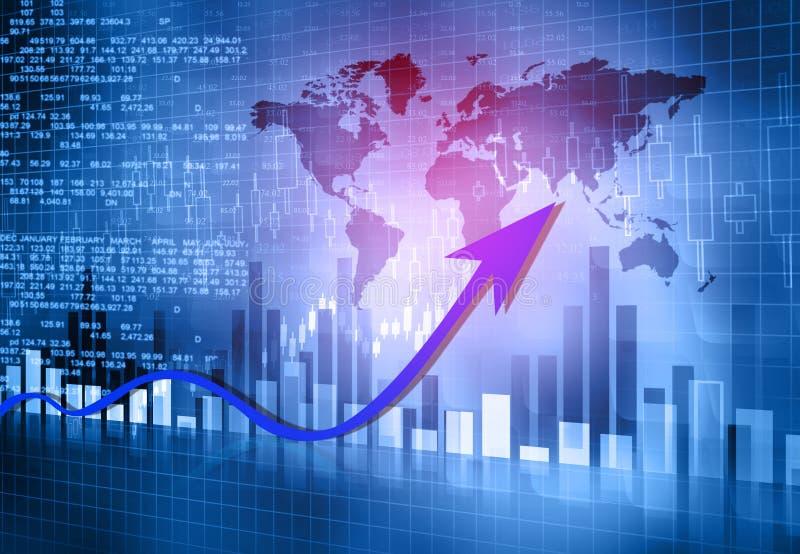 Grafiek die de bedrijfsgroei tonen vector illustratie