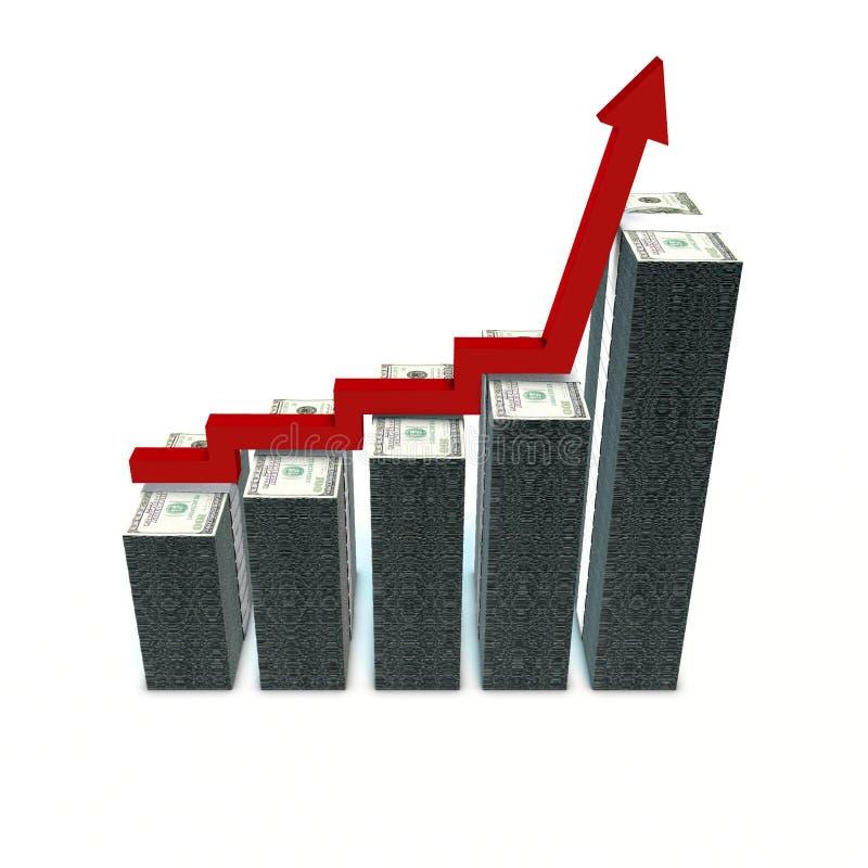 Grafiek die de groei van winsten toont royalty-vrije illustratie