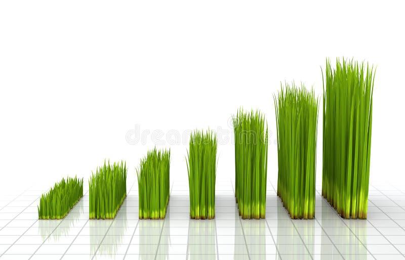 Grafiek die met groen gras wordt gecreërd vector illustratie