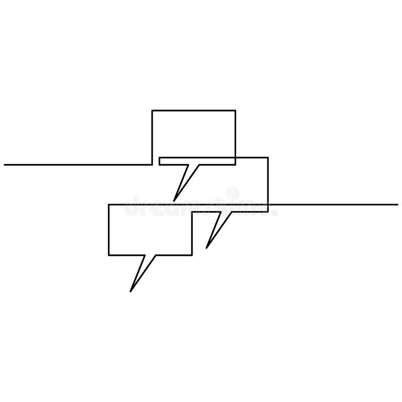 Grafiek, die op de monitor uitgaan, door één lijn op een witte achtergrond wordt getrokken Enige lijntekening Ononderbroken lijn  royalty-vrije illustratie
