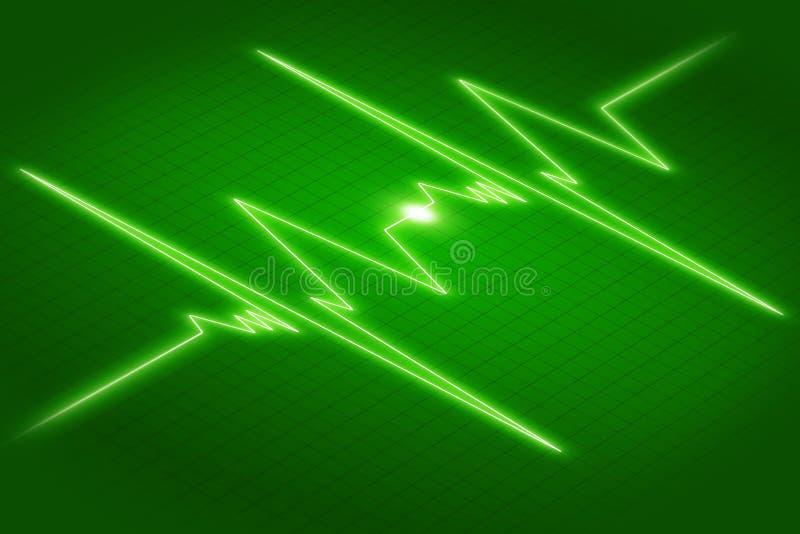 Grafiek ECG stock illustratie