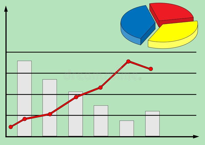 Grafiek en diagram stock illustratie