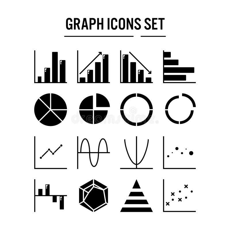Grafiek en diagrampictogram in stevig ontwerp voor infographic Webontwerp, presentatie, mobiele toepassing - Vectorillustratie vector illustratie