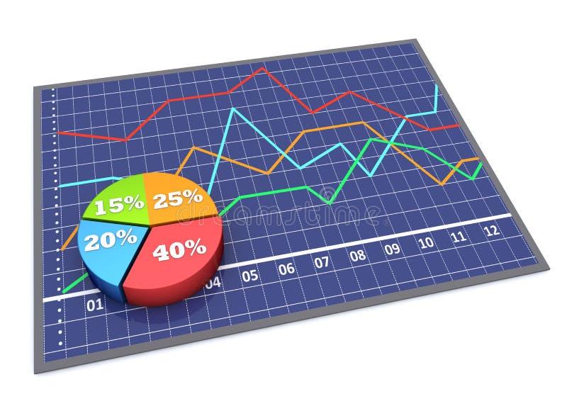 Grafiek en grafieken royalty-vrije illustratie