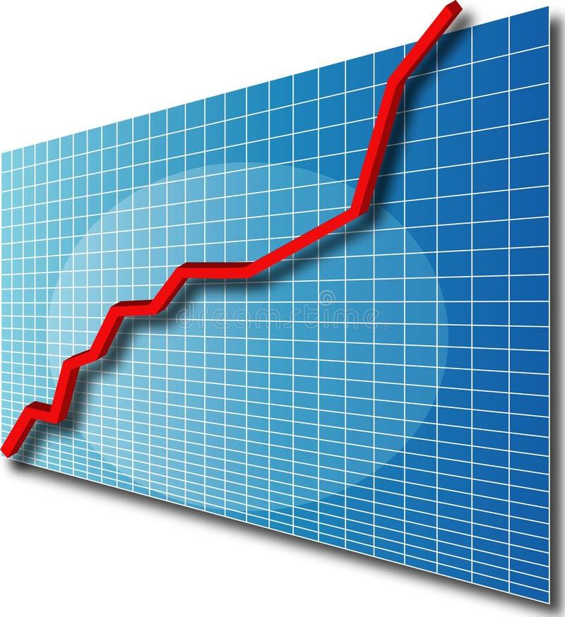 Grafiek line3d omhoog royalty-vrije illustratie
