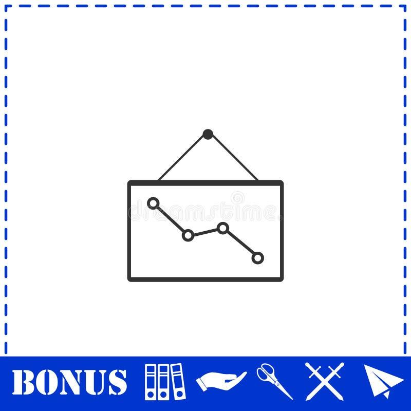 Grafiek onderaan vlak pictogram stock illustratie