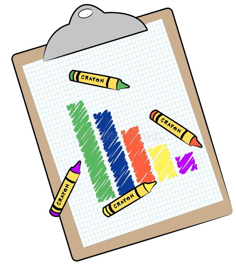 Grafiek op klembord stock illustratie