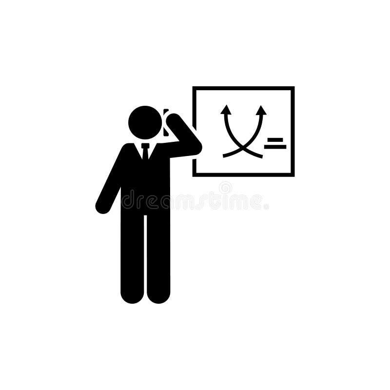 Grafiek, opleiding, bureau, baan, telefoonpictogram Element van zakenmanpictogram Grafisch het ontwerppictogram van de premiekwal stock illustratie