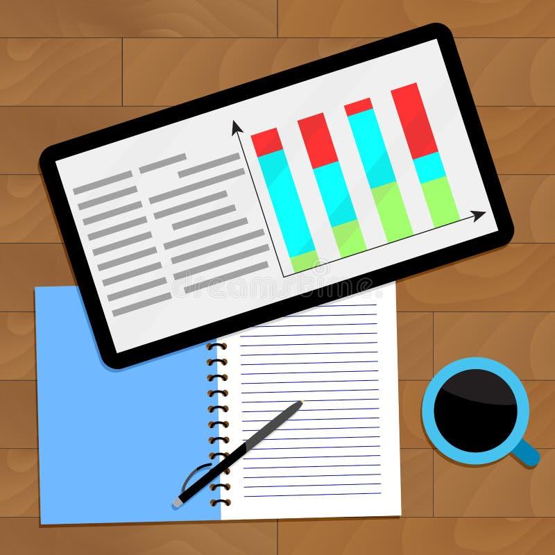 Grafiek statistisch onderzoek vector illustratie