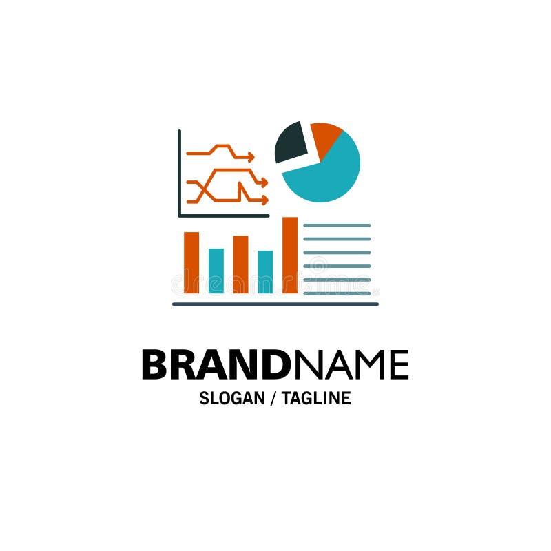 Grafiek, Succes, Stroomschema, Bedrijfszaken Logo Template vlakke kleur royalty-vrije illustratie
