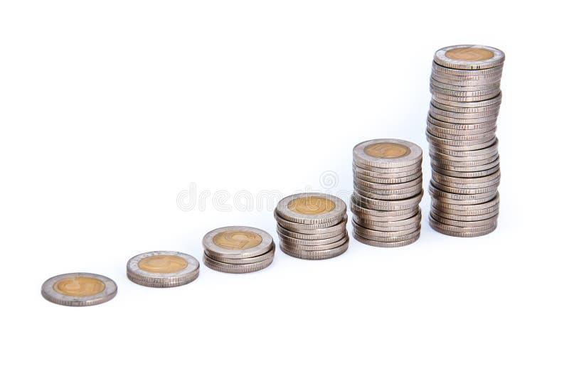 Grafiek van muntstukken royalty-vrije stock foto