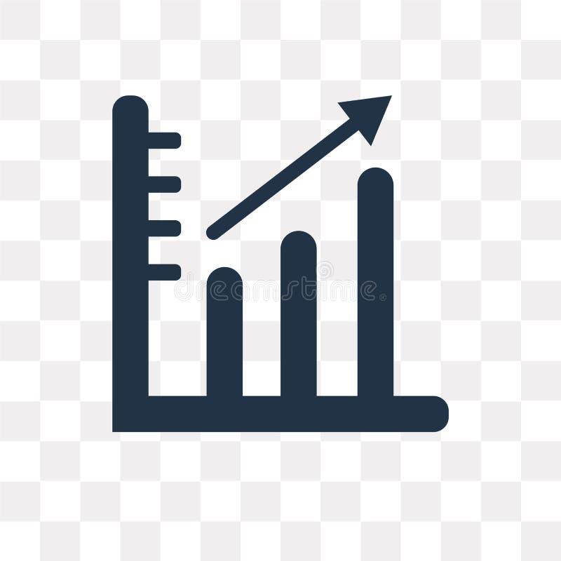 Grafiek vectordiepictogram op transparante achtergrond, Grafiektra wordt geïsoleerd stock illustratie