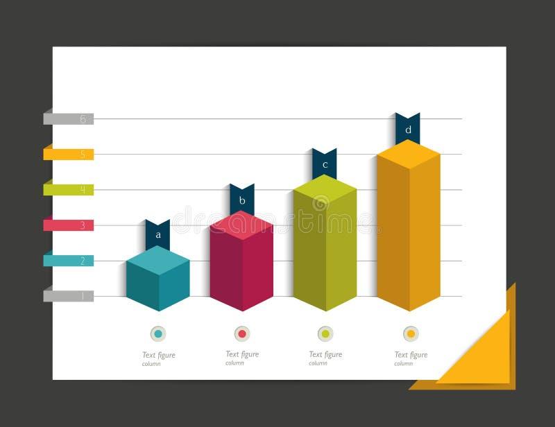 Grafiek voor infographic stock illustratie
