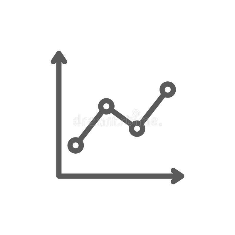 In grafiekbar, het groeien het pictogram van de grafieklijn vector illustratie