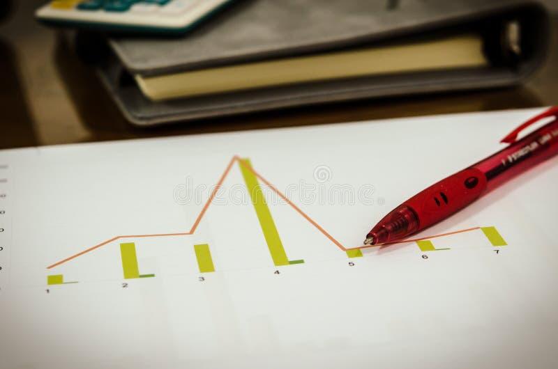Grafieken en pen stock afbeeldingen
