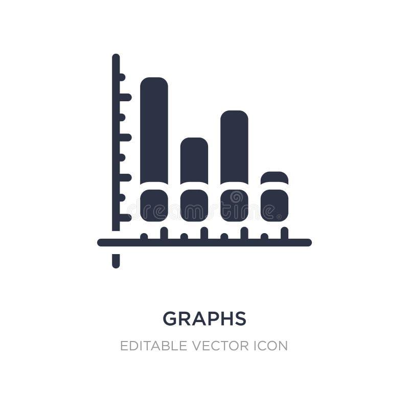 grafiekenpictogram op witte achtergrond Eenvoudige elementenillustratie van Bedrijfsconcept stock illustratie