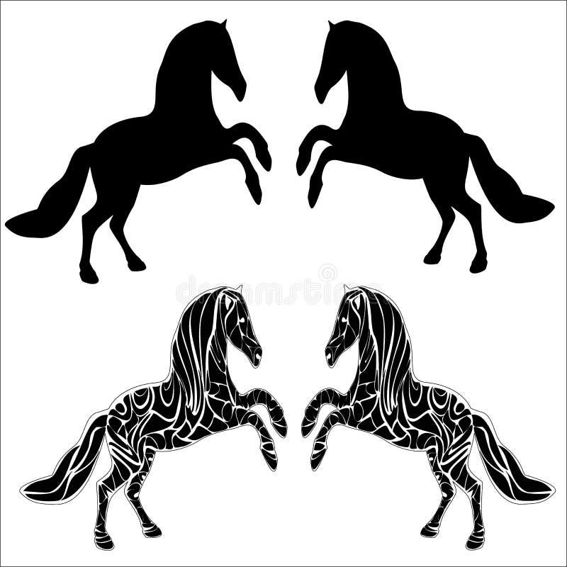 Grafiekpaard royalty-vrije stock afbeelding