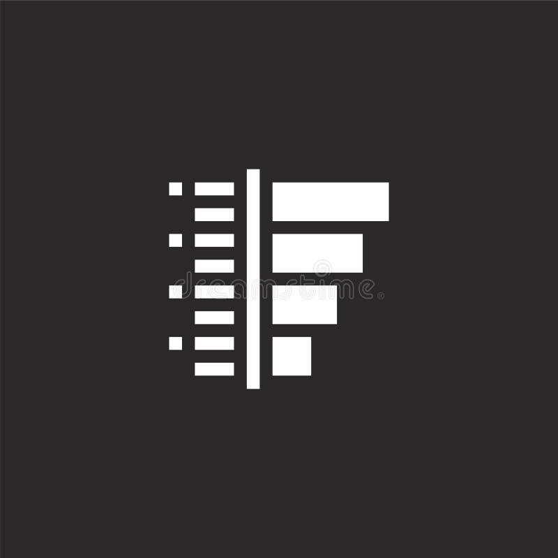 Grafiekpictogram Gevuld staafdiagrampictogram voor websiteontwerp en mobiel, app ontwikkeling staafdiagrampictogram van gevulde i stock illustratie