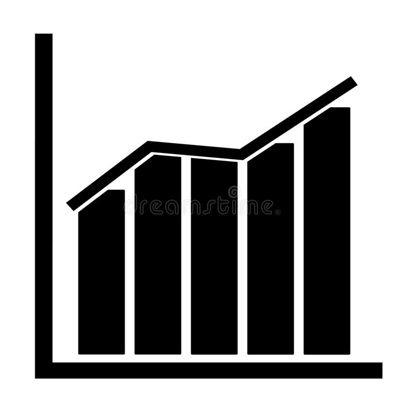 Grafiekpictogram op transparante achtergrond grafiekteken Vlakke stijl tendens op grafiekpictogram voor uw websiteontwerp, emblee stock illustratie