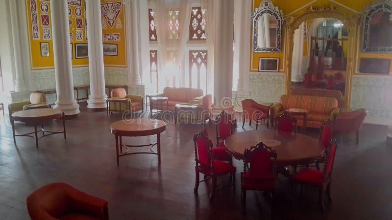 Grafik an Banglaore-Palast, Bengaluru, Indien lizenzfreie stockfotos