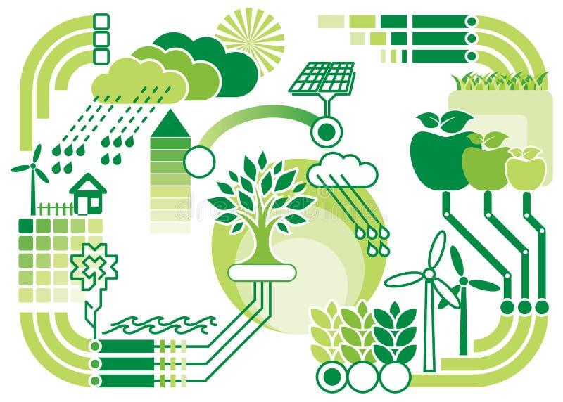 Grafik d'Eko illustration stock