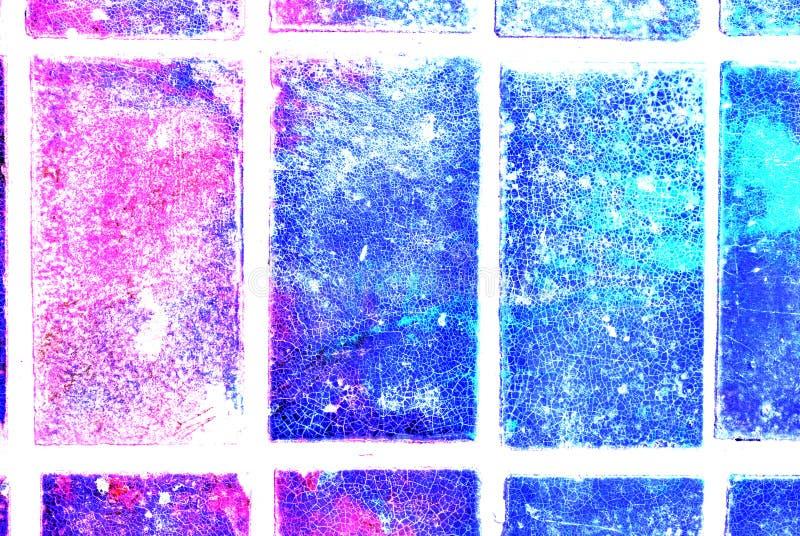 Grafik der gemischten Medien, bunte künstlerische gemalte Schicht der Zusammenfassung in der blauen, rosa, purpurroten Farbpalett vektor abbildung