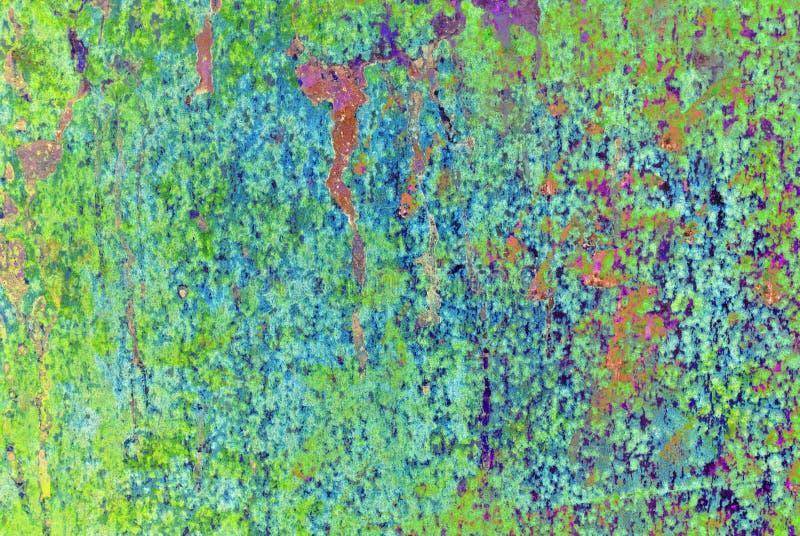 Grafik der gemischten Medien, bunte künstlerische gemalte Schicht der Zusammenfassung in der hellgrünen, gelben, blauen Farbpalet lizenzfreie stockbilder