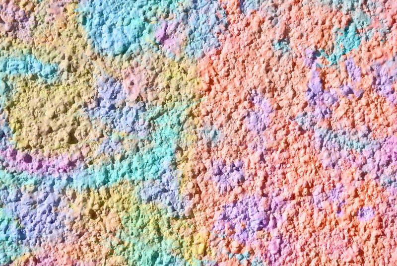 Grafik der gemischten Medien, bunte künstlerische gemalte Schicht der Zusammenfassung im Rosa, blaue, gelbe Farbpalette auf dekor lizenzfreie stockfotos